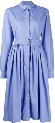 MSGM Belted Shirt Dress