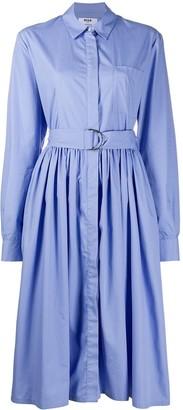 MSGM belted shirt dress