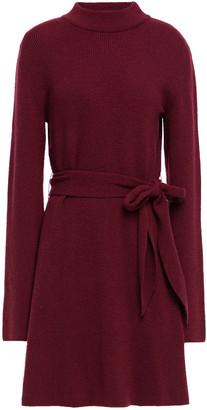 Nanushka Abhaya Belted Ribbed-knit Mini Dress