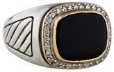 David Yurman Onyx and Diamond Ring