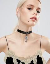 Asos Statement Cross Choker Necklace