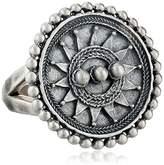 Satya Jewelry Sterling Mandala Sun Ring, Size 6