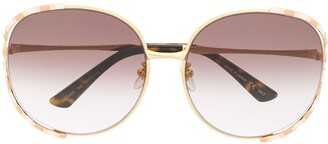Gucci Striped Detail Sunglasses