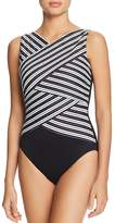 Miraclesuit Mayan Stripe Lyrd Brio One Piece Swimsuit