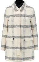 Tory Burch Plaid Cotton-Blend Bouclé Coat