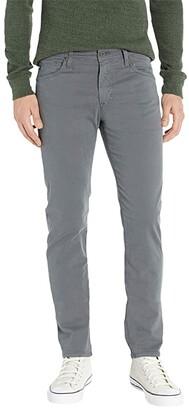 AG Jeans Tellis Modern Slim Leg Sueded Stretch Sateen Pants (Sulfur Folkestone Grey) Men's Casual Pants