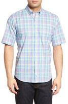 Tailorbyrd Men's Lemon Plaid Sport Shirt