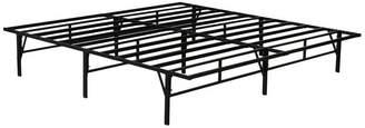 Pilaster Designs Chara Metal Platform Slatted Bed Frame, Black, King