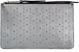 Jimmy Choo ROWEN Platinum Nappa with Studs Accessory Pouch