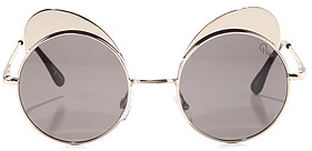 Quay Eyeware Australia The Yibrow Sunglasses in Silver