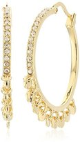 "Diane von Furstenberg Summer Disco"" Swarovski Stone Shaky Circle Hoop Earrings"