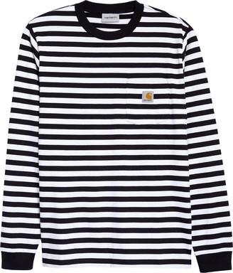 Carhartt Work In Progress Scotty Stripe Long Sleeve Pocket T-Shirt
