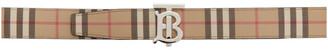 Burberry Beige Vintage Check E-Canvas Monogram TB Belt