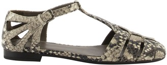 Church's Churchs Rainbow T-bar Sandal Python Print Stone