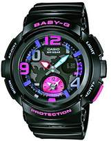 Casio Women's Quartz Watch with Black Dial Analogue/Digital Display and Black Resin Strap BGA-190-1BER