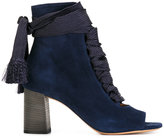 Chloé Harper peep-toe booties - women - Leather/Suede - 36