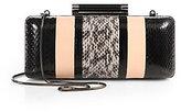 Diane von Furstenberg Tonda Snakeskin & Leather Striped Convertible Clutch