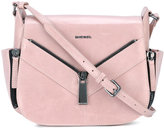 Diesel zip detail shoulder bag - women - Calf Leather/Brass - One Size
