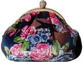 Jessica McClintock Paige Floral Velvet Pouchette Handbags