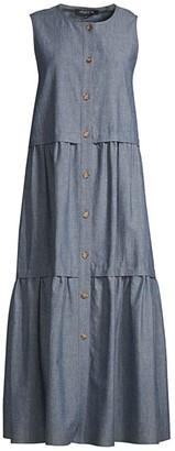 Lafayette 148 New York Nadine Button Dress
