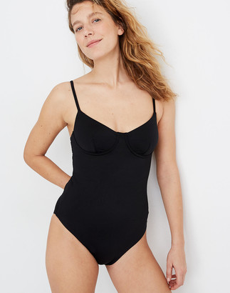 Madewell Plus Second Wave Structured One-Piece Swimsuit