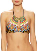 Trina Turk Medallion High Neck Bikini Top