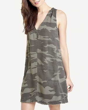 Splendid Camo Print Mini Dress