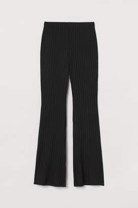 H&M Ribbed Jazz Pants - Black