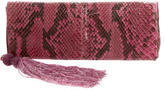 Anya Hindmarch Snakeskin Tassel Clutch