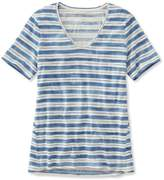 L.L. Bean L.L.Bean Organic Cotton Tee, Short-Sleeve U-Neck Stripe
