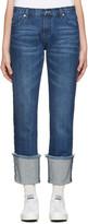 Edit Blue Denim Turn Up Boyfriend Jeans