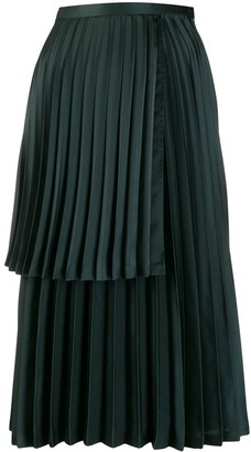 Comme des Garcons Layered Pleated Skirt
