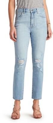 Sam Edelman The Stiletto Ripped Straight Leg Ankle Jeans