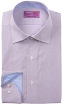 Lorenzo Uomo Mini Check Trim Fit Dress Shirt