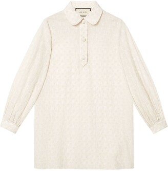 Gucci GG embroidered cotton shirt