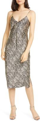 CAMI NYC Raven Zebra Silk Slipdress