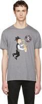 Dolce & Gabbana Grey 'Love Is Beautiful' Sax Player T-Shirt
