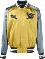 Valentino panther appliqué bomber jacket - men - Cotton/Polyamide/Polyester/Viscose - 46