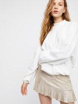 Free People Short & Sweet Metallic Mini Skirt