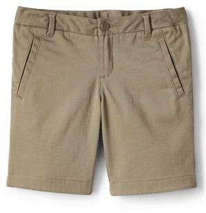 Lands' End Girls School Uniform Stretch Chino Bermuda Shorts, Sizes 4-16