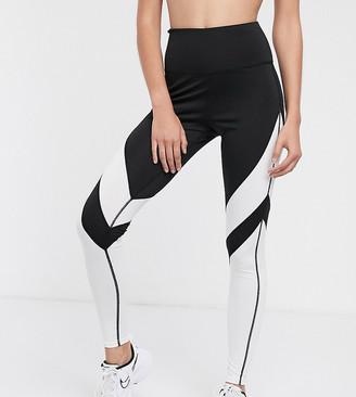 South Beach mono colour block sculpt leggings-Black
