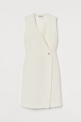 H&M Boucle Dress - White