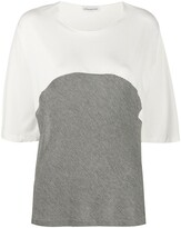Stefano Mortari two-tone crew neck T-shirt