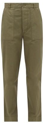 Officine Generale Saskia Patch-pocket Cotton-canvas Trousers - Khaki