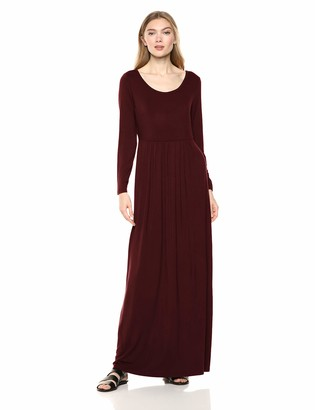 Daily Ritual Amazon Brand Women's Jersey Long-Sleeve Empire-Waist Maxi Dress
