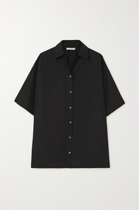 The Row Sissa Cotton-poplin Shirt - Black