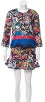 Cynthia Rowley Wool-Blend I Spy Print Skirt Set