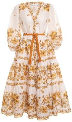 Zimmermann Floral Tiered Amelie Dress