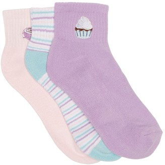 Abound Embroidered Ankle Socks - Pack of 3
