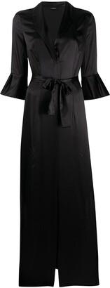 La Perla Exotique flared-cuffs robe